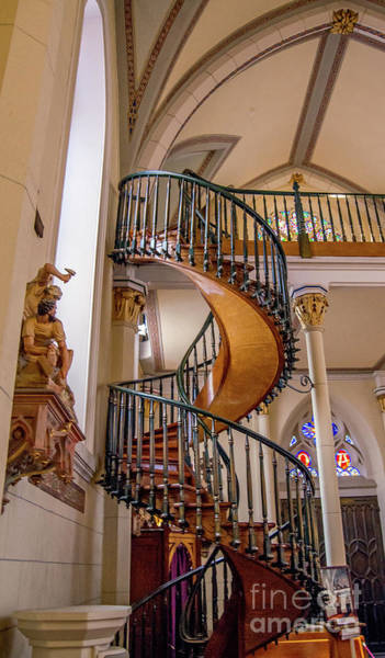 Loretto Chapel Photograph - The Miracle Staircase by Stephen Whalen