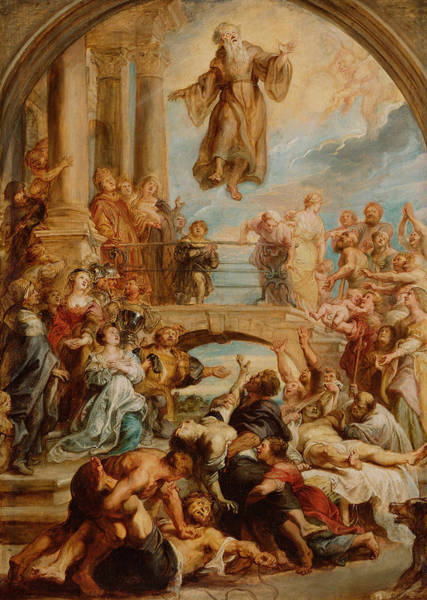 Painting - The Miracles Of Saint Francis Of Paola by Peter Paul Rubens