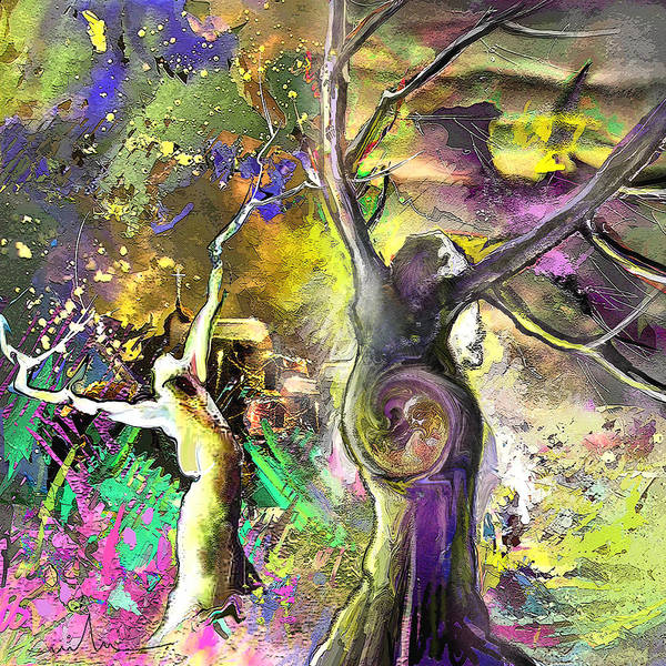 Painting - The Miraculous Conception by Miki De Goodaboom