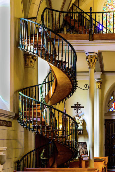Loretto Chapel Photograph - The Miraculous Stairway - Loretto Chapel - Santa Fe - New Mexico by Jon Berghoff