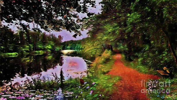 Digital Art - The Mirror Lakes by Swedish Attitude Design
