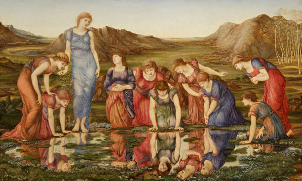 Mythology Painting - The Mirror Of Venus by Edward Burne-Jones
