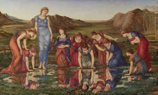 Wall Art - Painting - The Mirror Of Venus by Sir Edward Coley Burne-Jones