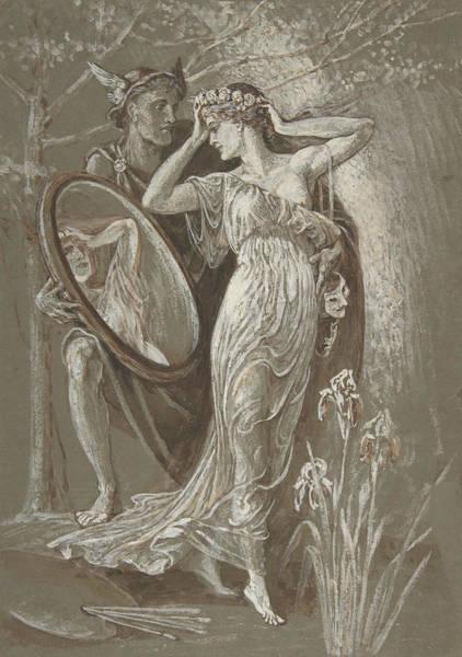 Wall Art - Drawing - The Mirror Of Venus by Walter Crane