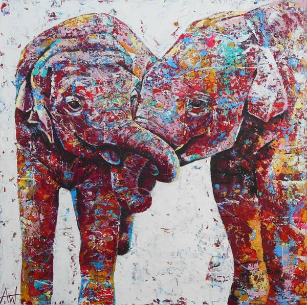 Wall Art - Painting - The Mischief Makers by Angie Wright
