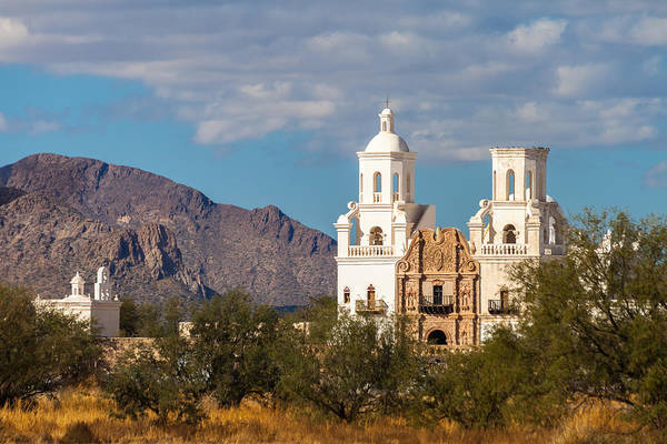 Photograph - The Mission And The Mountains by Ed Gleichman