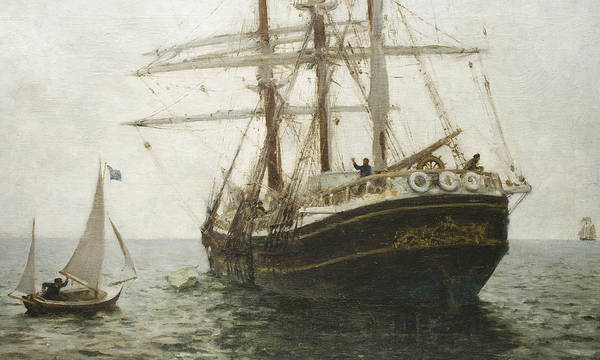 Newlyn Painting - The Missionary Boat by Henry Scott Tuke