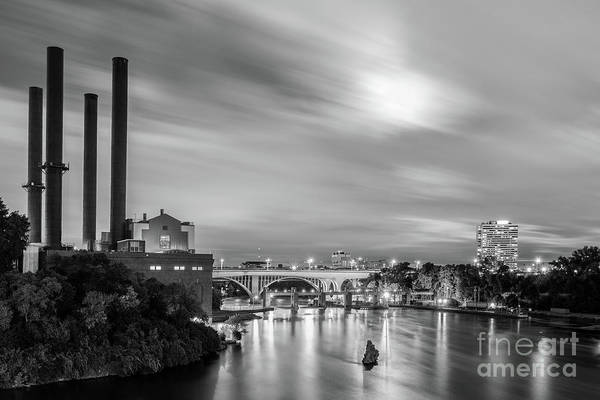 Photograph - The Mississippi River Night Scene by Iryna Liveoak