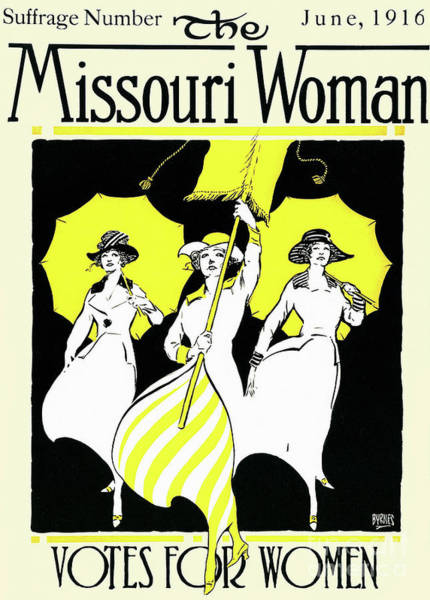 Wall Art - Drawing - The Missouri Woman From June 1916, The Suffrage Issue by American School