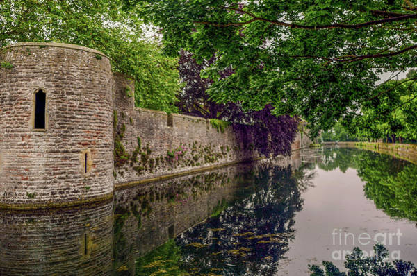 Photograph - The Moat - Bishops Palace Wells England by Lexa Harpell