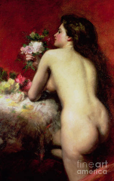 Seductive Painting - The Model by Charles Emile Auguste Carlous-Duran