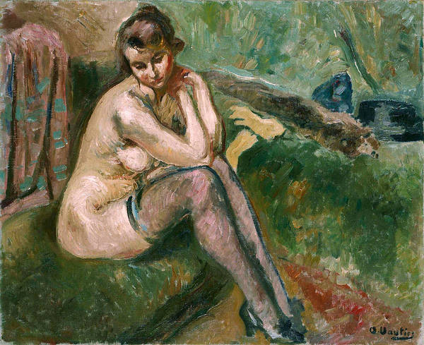Painting - The Model by Otto Vautier