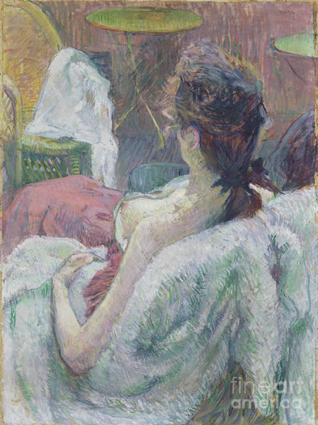 Dali Painting - The Model Resting By Henri De Toulouse-lautrec by Esoterica Art Agency