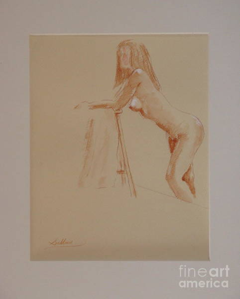 Wa Drawing - The Model Rests by David Sullins