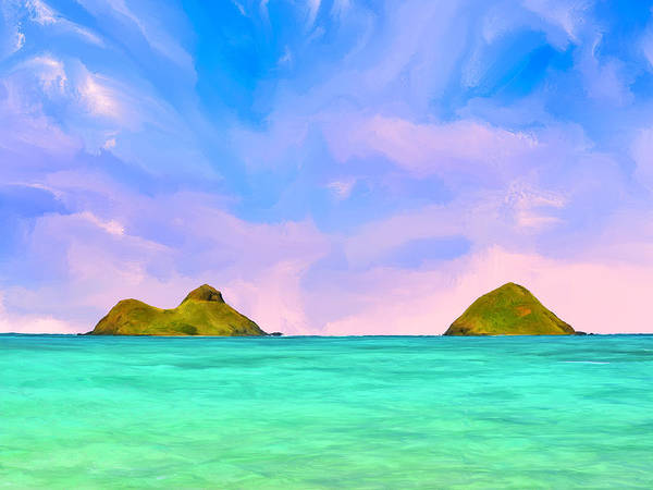 Painting - The Mokes In The Morning At Lanikai by Dominic Piperata