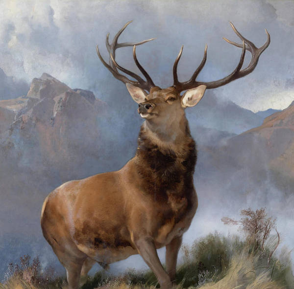 Crt Painting - Monarch Of The Glen by Sir Edwin Landseer