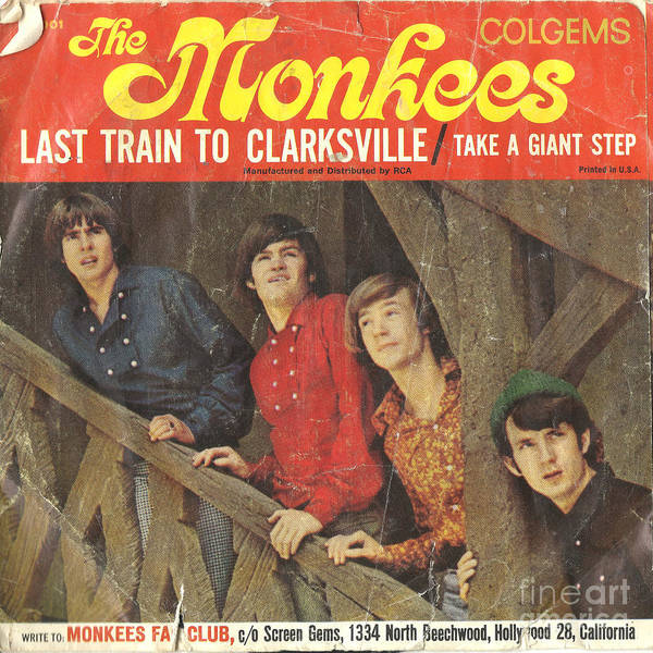 Photograph - The Monkees Last Train To Clarksville 45 Sleeve by Edward Fielding