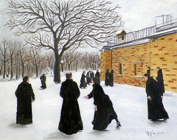 The Monks Of Clear Creek Abby Art Print