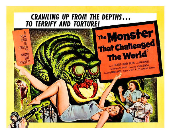 Horror Film Painting - The Monster That Challenged The World by Long Shot