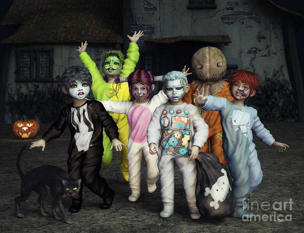 Digital Art - The Monsters Arrive by Jutta Maria Pusl