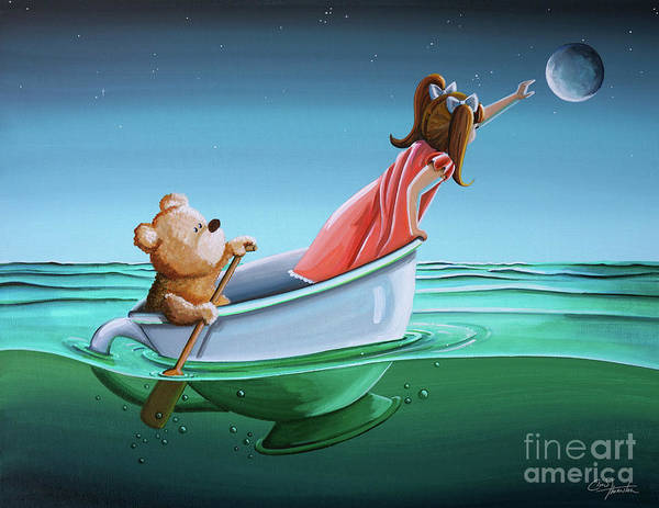 Teddy Bear Painting - The Moon Bandits II by Cindy Thornton