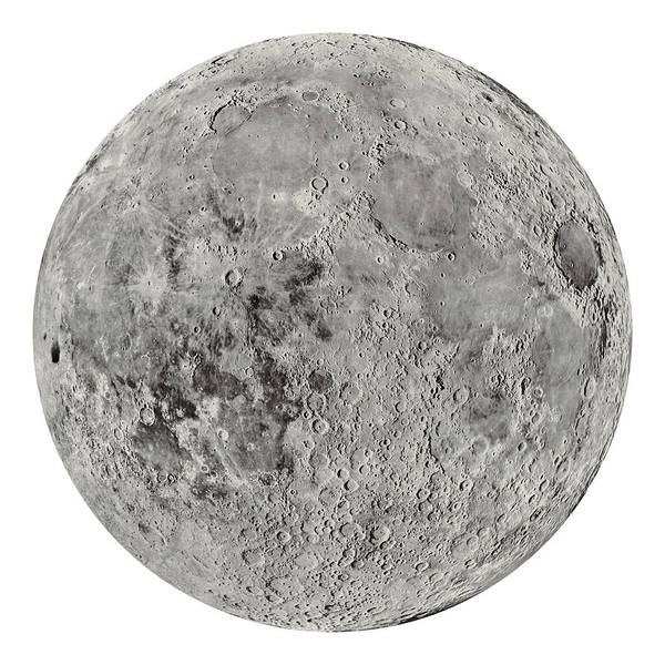 Lunar Photograph - The Moon By The Us Geological Survey - 1960s by Blue Monocle