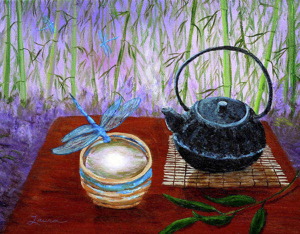Teacup Painting - The Moon In A Teacup by Laura Iverson