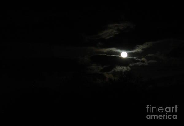 The Moon In Between Art Print