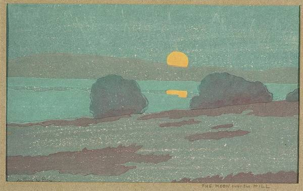 Wall Art - Painting - The Moon Over The Hill by Arthur Wesley