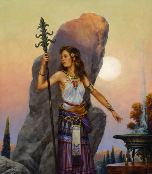 Summoning Wall Art - Painting - The Moonstone by Richard Hescox