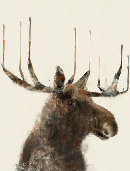 Moose Painting - The Moose by Bri Buckley