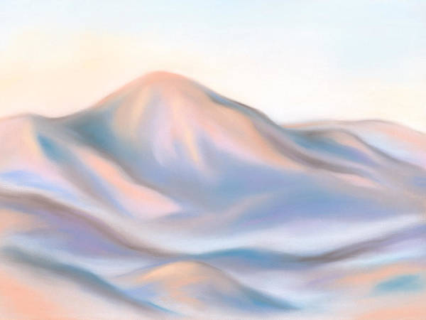Pastel - The Morning Sunlight Touches Mt. Pisgah by MM Anderson