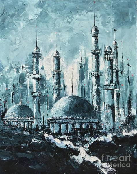 Painting - The Mosque-2 by Nizar MacNojia