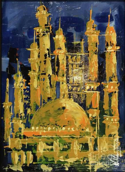 Painting - The Mosque-3 by Nizar MacNojia