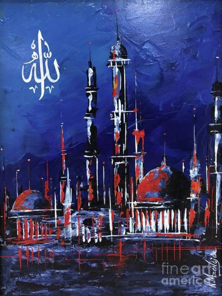 Painting - The Mosque-4 by Nizar MacNojia