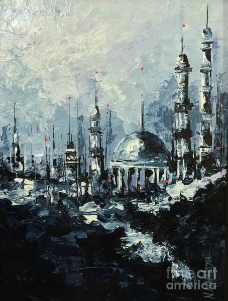 Painting - The Mosque by Nizar MacNojia