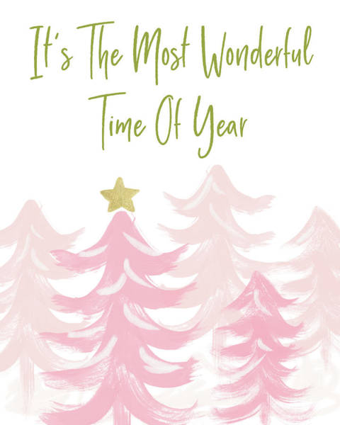 Wall Art - Mixed Media - The Most Wonderful Time- Art By Linda Woods by Linda Woods