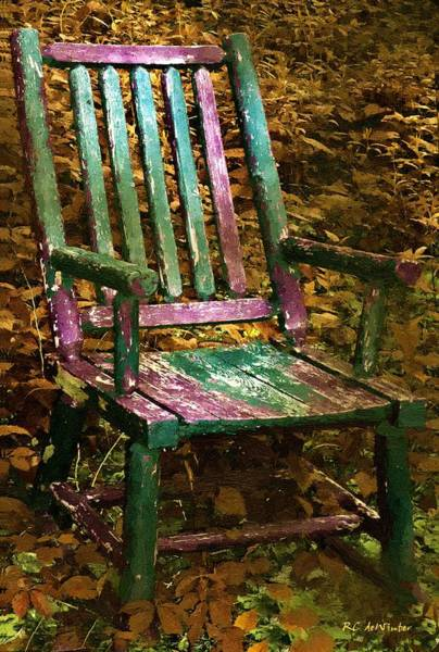 Painting - The Motley Chair by RC DeWinter