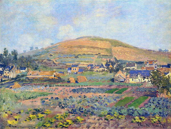 Wall Art - Painting - The Mount Riboudet In Rouen At Spring by Claude Monet