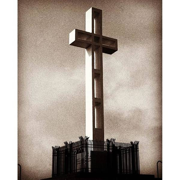 Military Photograph - The Mount Soledad Cross In La Jolla by Alex Snay