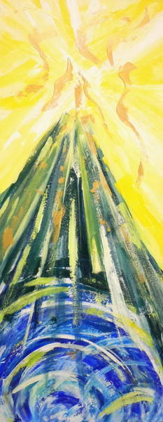 Painting - The Mountain Of The Lord by Deborah Brown Maher