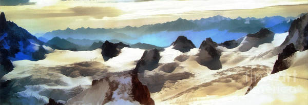 The Mountain Paint Art Print