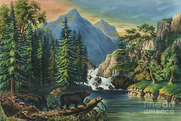 Wall Art - Painting - The Mountain Pass Sierra Nevada, 1867 by Currier and Ives