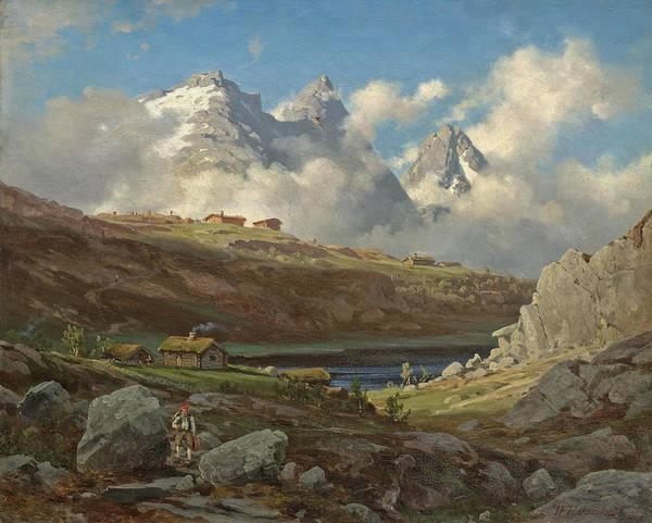 Wall Art - Painting - The Mountain Wanderer by Johan Fredrik Eckersberg