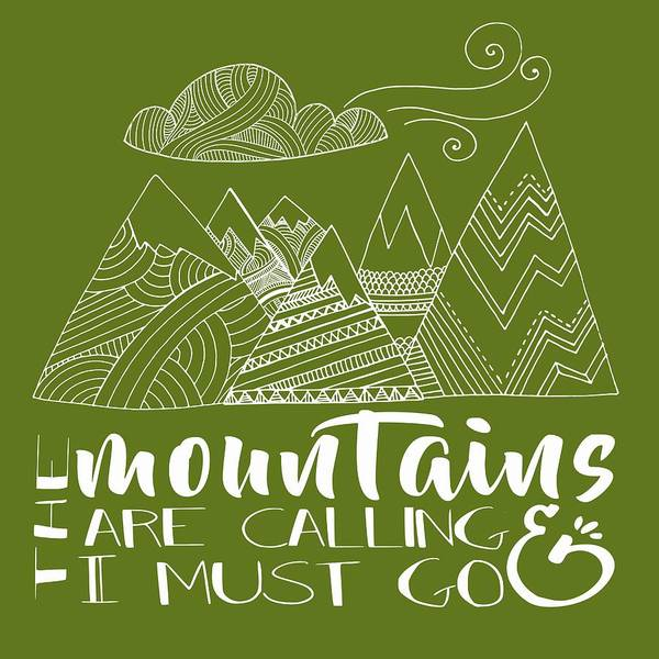 Hiking Digital Art - The Mountains Are Calling by Heather Applegate