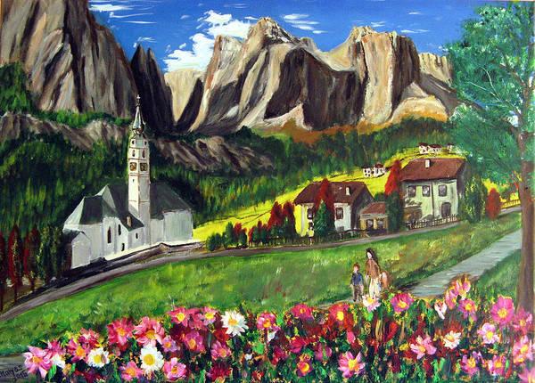 Wall Art - Painting - The Mountains by Ctirad Matyas