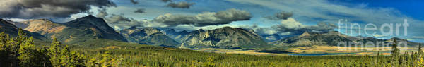 Photograph - The Mountains Of Waterton Lakes Panorama by Adam Jewell