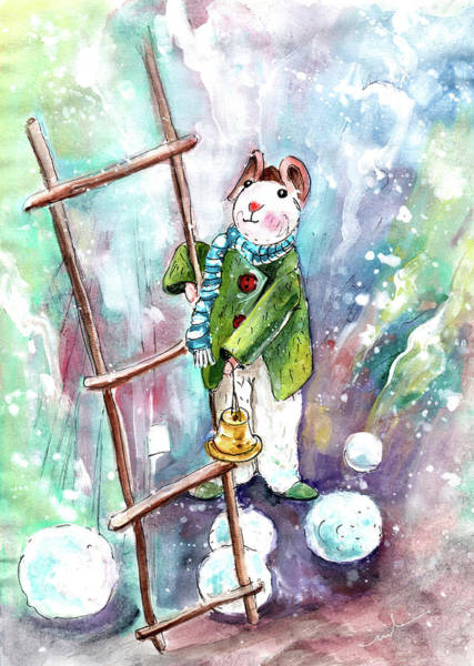 Painting - The Mouse And The Snowballs by Miki De Goodaboom