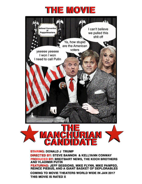 Trump Digital Art - The Movie by Joe  Palermo