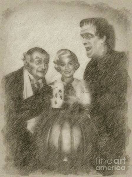 Wizard Drawing - The Munsters by Frank Falcon